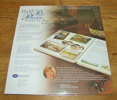 Creative Memories Page Protectors 12x12 Original Size Old Style 15 +1 sheets NEW