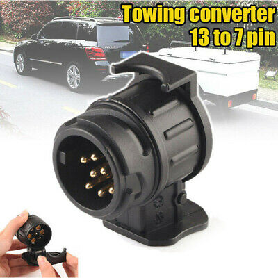 13 to 7 Pin Trailer Truck Socket Electric Towing Converter Caravan Plug Adapter