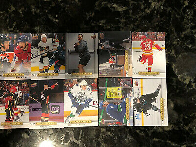 2019-20 Upper Deck Series 1 UD CANVAS Lot/Set Of 39 NO DUPES Ovechkin Pastrnak