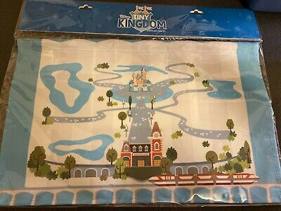 2019 Disneyland Tiny Kingdom Pin Set Collectible Canvas Map And One Castle Pin