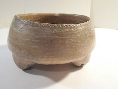 Mayan Tripod Rattle Leg Bowl Pre-Columbian Archaic Ancient Artifact Olmec Toltec