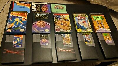 Lot of 5 Boxed Nintendo NES Games in Original Boxes Private Collection