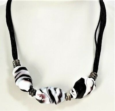 Necklace Woman Mexico Antique Murrina Glass Murano Made in Italy Art v586