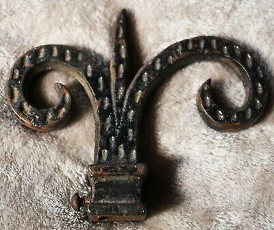 Vintage Antique Cast Iron Wrought Fence Post Finial Top Topper