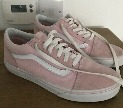 Ladies/Girls Vans Pink Suede/Canvas Casual Trainers/Shoes - Size 38 (5 UK)