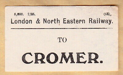 London & North Eastern Railway Luggage Label - Cromer