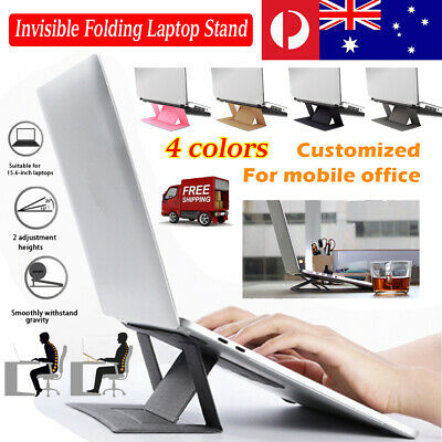 Universal Portable Laptop Stand Holder Invisible Folding Screen Riser Adjustable