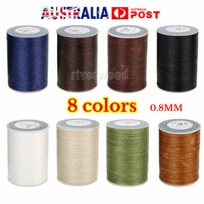 90m 0.8mm Waxed Cord Thread String Line Sewing Leather Hand Wax Stitching Craft