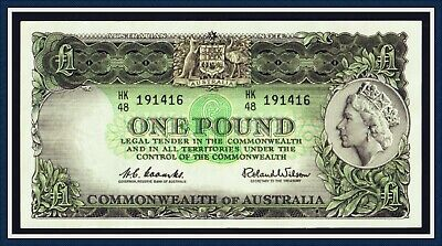 gEF Quality One Pound Paper Banknote 1960 Coombs/Wilson HK/48-191416 Reserve