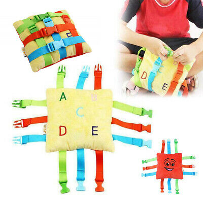 NEW BUCKLE TOY Toddler Early Learning Basic Life Skills Children Plush Toys Fun