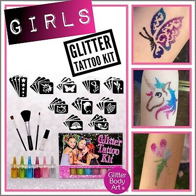 Girls Glitter Tattoo Kit
