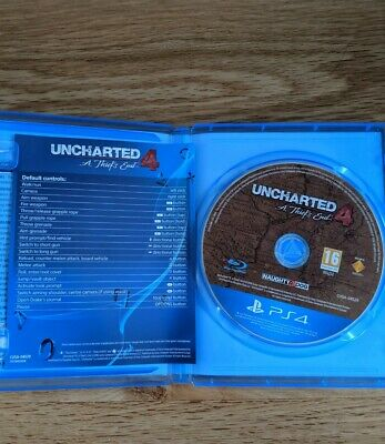 Uncharted 4: A Thief's End on PS4 in excellent condition