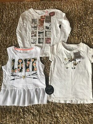 Bundle Of Girls Tops T-shirts Next & Baby K Age 4 Years Bnwt
