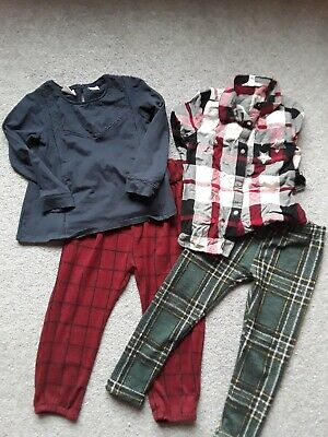 bundle zara top checked trousers river island checked shirt girl 2-3 years