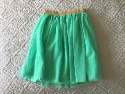 Gap Kids Girls Tulle Sparkly Green/Gold Skirt -  Age 10-11 Years - vgc