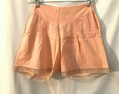 Pale Peach cotton and lace 1940s bloomers, tap shorts, underpants, shorts MINT M