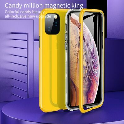 Magnetic Adsorption 360° Full Body Case Cover For iPhone 11 Pro XS Max XR 8 Plus