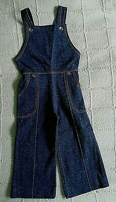 Vintage Stretch Dungarees - Age 2-3 years - Navy - Orange Stitching - New