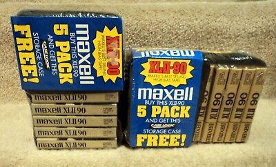 Maxell XLII-90 High Bias Blank Cassette Audio Tapes w Storage Case New & Sealed