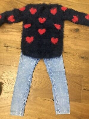 Girls Next Trousers And Matalan Jumper Size 4-5
