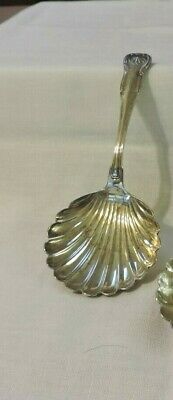 Vintage S. Kirk & Son Coin Silver Sugar Shell Spoon-King Pattern