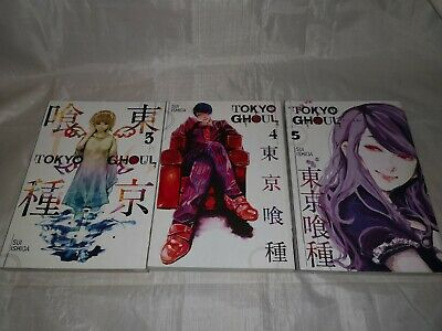 Tokyo Ghoul Series Volume 3-4-5 Books Collection Set By Sui Ishida NEW