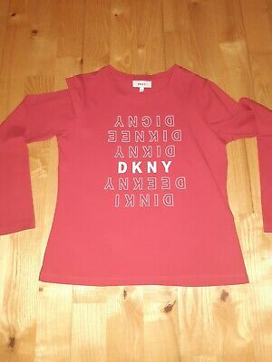 Girls DKNY age 10 red top (Long Sleeve)