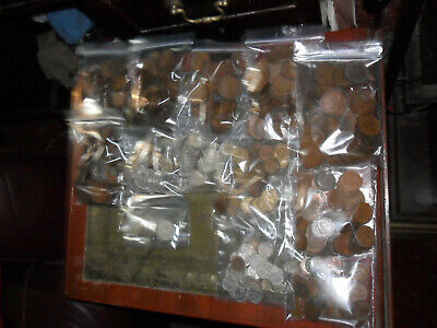 British Coins Mixed Lot Over 5kg, Penny's, Half Penny's, Half Crowns Etc, 760 +