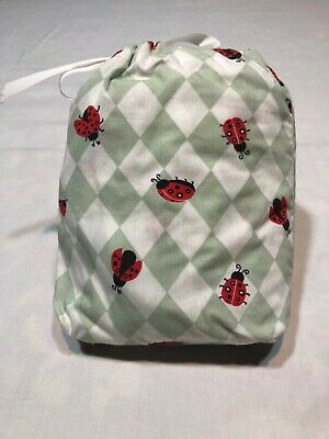 Crib Sheet, Baby, Combed cotton, Ladybug design, Packaged in a matching bag