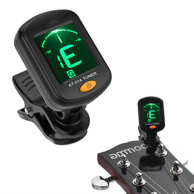 Digital Chromatic LCD Clip-On Electric Tuner for Bass Guitar Ukulele Violin OBP