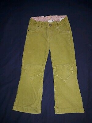 H&M green corduroy trousers with elasticated waist aged 4-5 years