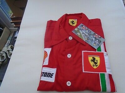 Awesome FERRARI F1 racing shirt with cool advertising patches  SIZE MEDIUM