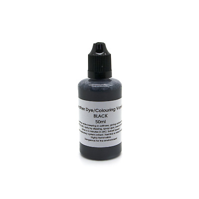 Black Leather Dye Colour Repair Refreshing Manufacturing Re-colouring Paint 50ml