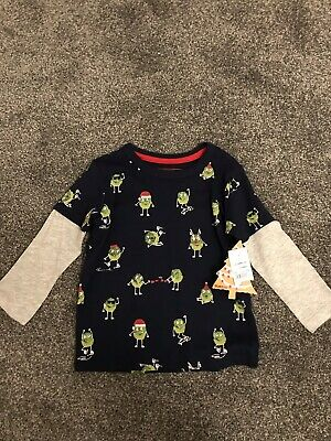 Debenhams Blue Zoo Boys Christmas T Shirt 12-18 Months