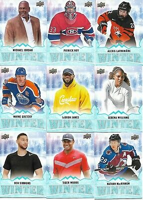 2019 Upper Deck Singles Day Winter Complete Set Scratched W1-W20