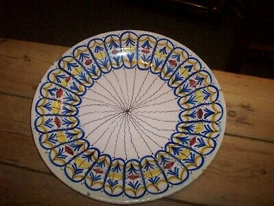 delf type large pottery dish