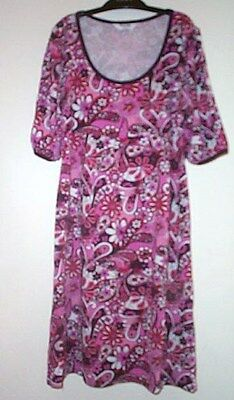 GIRLS PINK RED WHITE FLOWER SHORT SLEEVES DRESS TAMMY SIZE 152-158cm 12-13YEARS
