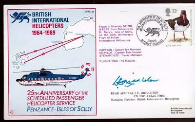 JS(AC)33 25th Ann Penzance-Scilly Helicopter sgd Rear Ad MIDDLETON MD BrIntHelic