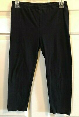 Girl Old Navy Cropped Black Leggings - Size 16 XXL EUC