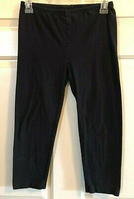 Girl Old Navy Cropped Black Leggings - Size 14 XL EUC