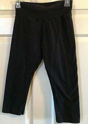 Girls Justice Capri Black Leggings - Size 18/20  EUC