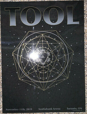 Tool Poster Toronto Scotiabank 2019 concert tour limited edition holographic