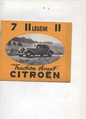 Citroen traction avant  7 11 L  11 brochure  prospekt
