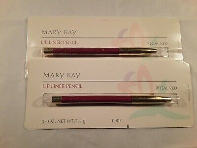 vintage MARY KAY LIP LINER PENCILS Regal Red NEW IN PACKAGE #0907 NOS set of 2