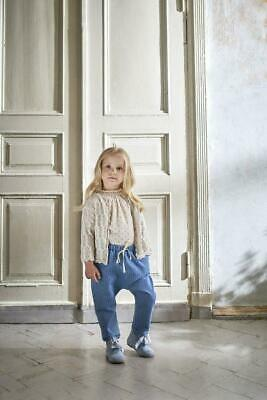Unisex Natural Linen Khaki Green Oxford Trousers by Bebe Organic Age 4 (2-4) Y