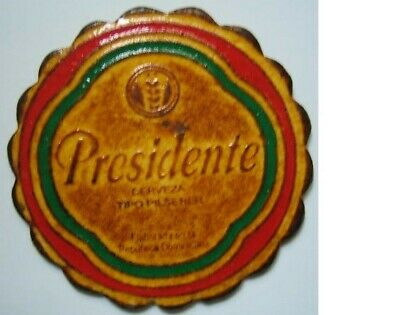 Posavasos Beer coaster Bierdeckel Presidente Republica Dominicana