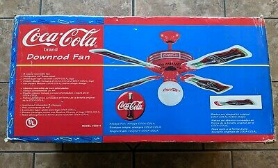 Coca Cola Ceiling Fan Coke Soda Bottles Blades Globe