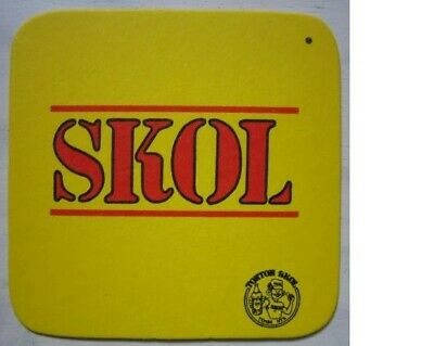 Posavasos Beer coaster Bierdeckel Skol Democratic Republic of Congo