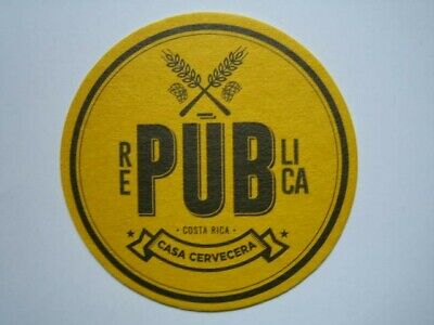 Posavasos Beer coaster Bierdeckel RePublica Costa Rica