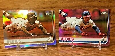 OZZIE ALBIES 2019 Topps Chrome Sepia & Pink Refractor LOT Atlanta Braves